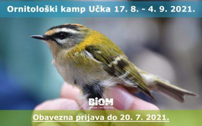 Otvorene prijave za ornitološki kamp Učka 2021.