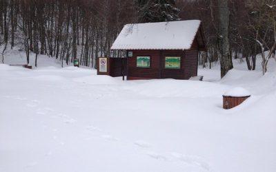 Snijegom pokrivena Učka