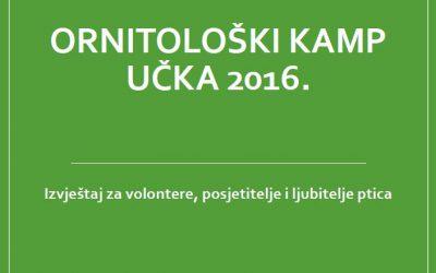 NAJAVA PRSTENOVANJA PTICA U ORNITOLOŠKOM KAMPU UČKA 2017.G.