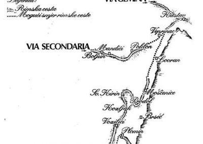 Karta s rimskim cestama